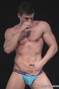 hot muscled male stripper