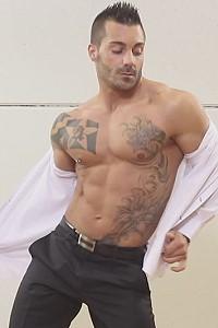 hot male stripper Adrian