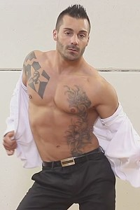 muscle male stripper Adrian