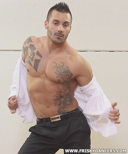 muscle male stripper Adrian