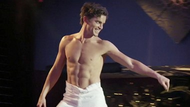 Matt Bomer striptease dance video